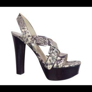 Michael Kors Josephine heel sandals. Snake print